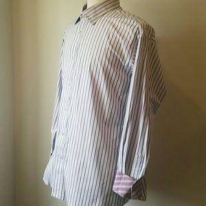 TAILORBYRD Long Sleeve Button Down Shirt XL